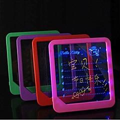 lysende opslagstavle håndskrevne førte fluorescerende skærm