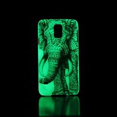 Elefanten-Muster im Dunkeln leuchten Hartschalenetui für Samsung Galaxy S5