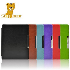 Shy Bear™ Magnet Closure Wake Up Sleep Leather Cover Case for Kobo Aura 6 Inch Ebook