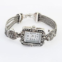 Women's European Style Square Alloy Band Popular  Rectangular Bracelet Watch