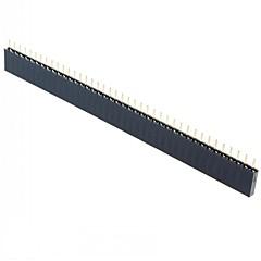 1X40 Straight Female Header 40 Pins Single Row 2.54 mm Pitch Straight Needle Female Pin Header (15Pcs)