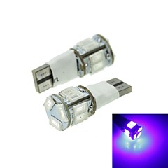 T10 LED 2-Mode Blue 5W 11X5630SMD 550LM   for Car Brake Light (DC12-16V)