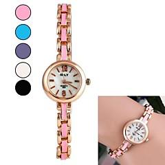 vrouwen ronde vorm drip wijzerplaat rooster legering ketting horloge (verschillende kleuren)