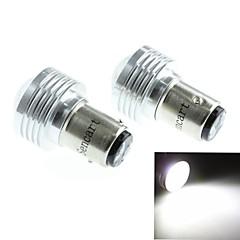 baz15d (1122 p21) 3W 3cob 220-260lm 6500-7500k hvidt lys LED pære til bil baklygte (DC12V / 2pcs)