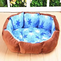 teste padrão de flor quente ninho de pelúcia para cães (cores sortidas)
