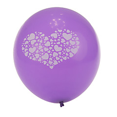 ekstra stor størrelse lilla tyk hjerte knust runde balloner - sæt af 24