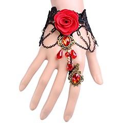 Exquisite Fashion Lace Jewel Flower Ring Ms Bracelet