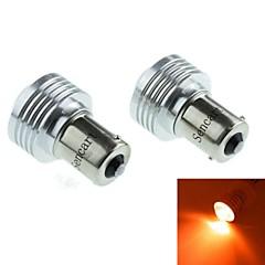 1156 (P21W Ba15s) 3W 3COB 635-700nm Red Light LED Bulb for Car Reversing Lamp (DC12V /2pcs)