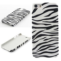 estojo rígido padrão de zebra para iPhone 5 / 5s