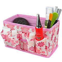 folde kvadratiske kosmetik opbevaringsboks stå kasse makeup børste pot kosmetisk arrangør (3 farver at vælge)