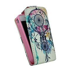 Vintage Dreamcatcher Up-down Turn Over PU Leather Full Body and Card Slots for iPhone 4/4S