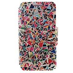 For Nokia etui Kortholder / Flip Etui Heldækkende Etui Geometrisk mønster Hårdt Kunstlæder Nokia Nokia Lumia 520