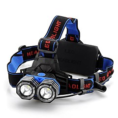 4-Mode 2x Cree XML-T6 Headlamp (1600LM, 2x18650, Black)
