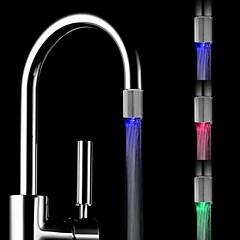 rc-d1 Mini sensor de temperatura de la corriente de agua con estilo luminoso luz del grifo de luz LED (de plástico, acabado en cromo)