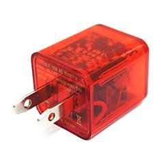 빛 듀얼 USB 2 포트 충전기 어댑터를 깜박 플러스 삼성 / 아이폰 / 아이 패드 / HTC P 정장에 얼굴 3IN1 USB 케이블을 미소 주도