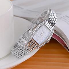 Mulheres Relógio de Moda Simulado Diamante Relógio Quartzo imitação de diamante Lega Banda Brilhante Prata Branco Preto