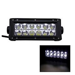 36W Type/B Spot 6000K 12-Epistar LED  Work Light Bar DIY Used in Car/Boat/Auto Headlight