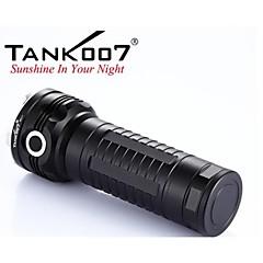 tank007® rc11 ladattava 6-mode 1xusa Cree XM-L u2 LED-salama (2000lm, 3x18650, musta)