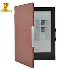 oso tímido ™ inteligente caso de la cubierta de cuero protectora original para hd aura kobo 6,8 pulgadas ebook