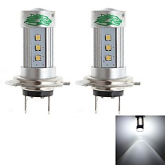 Zweihnder H7 15W 1450lm 6000-6500K 15xSMD 2323 LED White Light Bulb for Car Foglight (12-24V,2 Pieces)