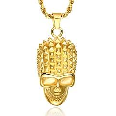 Luxury 24K Gold Skull Necklace