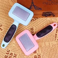 alta calidad mango de plástico peine con el patrón de la garra para perros (color al azar)