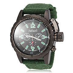 JUBAOLI® Men's Black Dial Fabric Band Quartz Wrist Watch (Assorted Colors) Cool Watch Unique Watch Fashion Watch