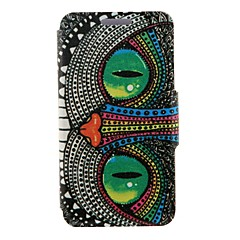 Kinston Special Shining Eye Monster Pattern PU Leather Full Body Case with Stand for iPhone 4/4S