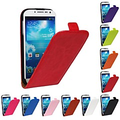 Flip-Open Horse Grain PU Leather Full Body Case for Samsung Galaxy S4 I9500 (Assorted Colors)
