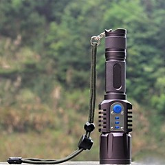LED Flashlights/Torch / Handheld Flashlights/Torch LED 5 Mode 2200 Lumens Waterproof / Rechargeable / Impact Resistant / Nonslip gripCree