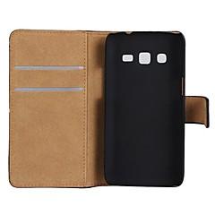 Varten Samsung Galaxy kotelo Korttikotelo / Tuella / Flip Etui Kokonaan peittävä Etui Yksivärinen Tekonahka Samsung Express 2