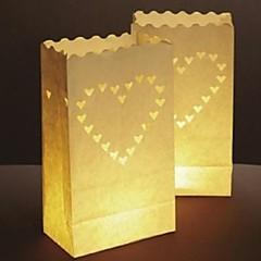 Stort Hjerte Formet Udskæring Papir Papir Lampe (Sæt Af 4)
