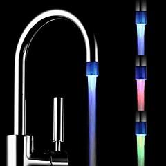 RC-F1001 مصغرة درجة حرارة تيار المياه أنيق استشعار مضيئة ضوء الصمام الخفيفة الحنفية (البلاستيك، والانتهاء من الكروم)