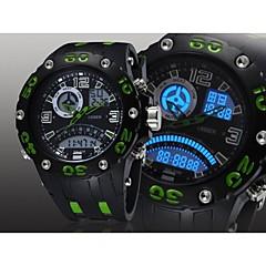 mannen zwarte ronde siliconen horloge wijzerplaat band japan beweging mode duiken sport horloge polshorloge (verschillende kleuren)