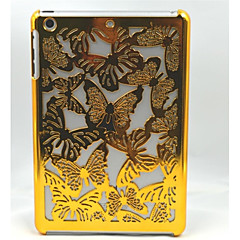Golden Hollow Butterfly Back Cover Plastic for iPad mini