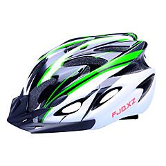 fjqxz 18 tuuletusaukkojen eps + pc vihreä ja musta valettu yhtenäiseksi pyöräily kypärä (56-63cm)