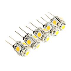 g4 2.5W 5 * smd 5050 150-180lm 3000K valo johtanut lamppu auton lukuvalo (DC 12V)