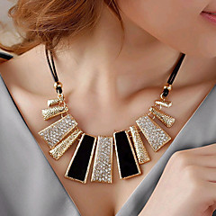 Women's Statement Necklaces Rhinestone Simulated Diamond Alloy Fashion Black Jewelry Party Daily Casual 1pc