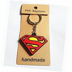 柔らかいプラスチック材料(1個)とスーパーマンスタイルのキーチェーン