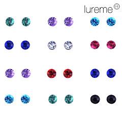 Earring Stud Earrings Jewelry Women Party / Daily Alloy 24pcs White