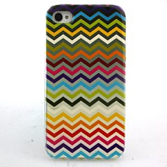 Color Corrugated Pattern Pattern Hard Case for iPhone 4/4S