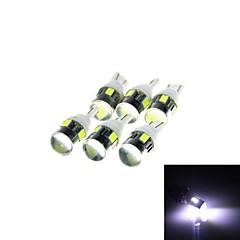 T10 3W 144lm 3500K 6-SMD 5630 LED  White Car Signal Light w/ Lens - White (DC 12V / 6PCS)