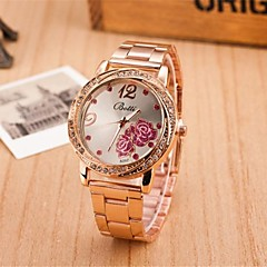 Women's Fashion Circular Roses Alloy  Quartz Watch