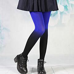 Punk Girl Blue & Black Insulated Velvet Gothic Lolita Stockings