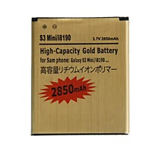 """삼성 갤럭시 S3 미니 / i8190 / i8160에 대한 교체 3.7 """"2850mah""""배터리 (황금)"""