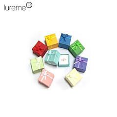 lureme®sweet caja del anillo cajas de joyas de estilo (color al azar)
