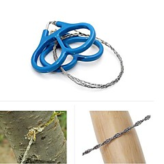 Silver Steel Wire Saw Scroll Saw Emergency Hiking Camping Hunting Outdoor Survival Tool