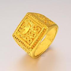 Кольца Свадьба / Для вечеринок / Повседневные / Спорт Бижутерия Позолота Мужчины Массивные кольца9 Золотой
