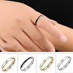 anillo de acero de titanio calidad contratada moda