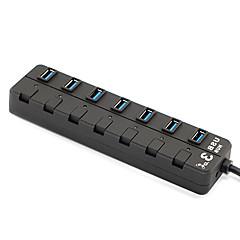 Hub USB 3.0 1 x 7 USB3.0 à grande vitesse 7-ports étendus hubs de conversion
